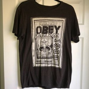 Obey Men's Grey T-Shirt
